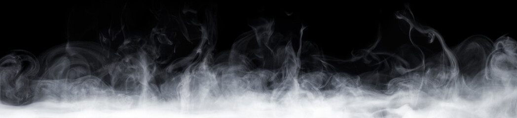 Aluminium Prints Smoke Abstract Smoke In Dark Background