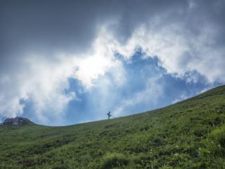 Nuvole in montagna