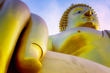 The beauty of the culture at in Asia. Buddha statue big in the world. In Thailand