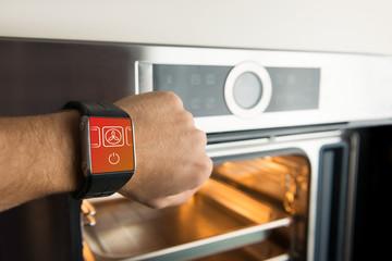 Smart watch control oven