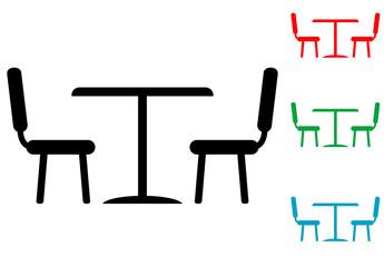 Icono plano comedor varios colores