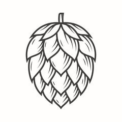 Hop emblem icon label logo. Vector illustration.