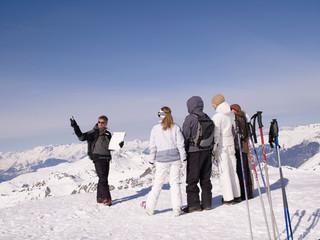 ski instructor teaching class