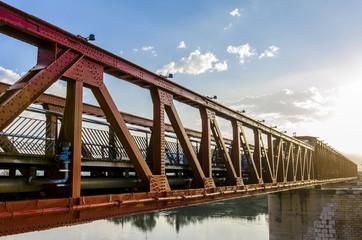 Old rail bridge over Ebro, Tortosa Spain