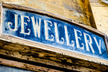 old jewellery sign