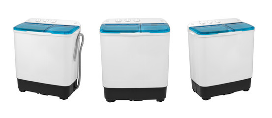 activator washing machine on a white background, three image positions