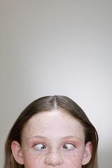 Girl crossing her eyes