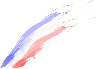 French - English - American flag sketch