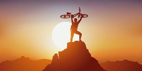 VTT - sport - sport extrême - vélo - montagne -sportif - course - randonnée