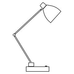 Lamp   the black color icon .