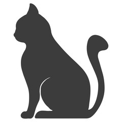 animal feline mascot pet domestic silhouette vector illustration