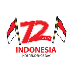 Creative illustration for happy independence day of Indonesia.
