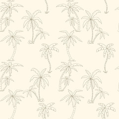 Seamless tropical palms pattern