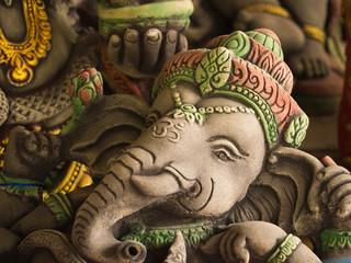 Grey Ganesh Elephant God Statue in Sleeping