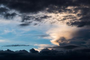 Beautiful Cloud On Evening In Phetchabun,Thailand.