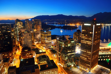 Fototapete - Vancouver rooftop view