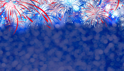 Fireworks with bokeh background