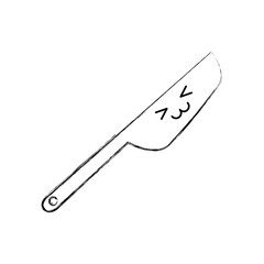 kitchen knife cutlery kawaii character vector illustration design