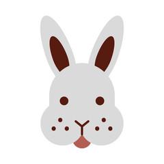 rabbit head isolated icon vector illustration design