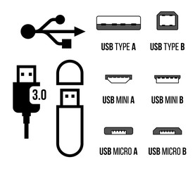 USB sockets icon