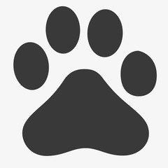 Paw icon vector, filled flat sign, solid pictogram isolated on white. Pet supplies symbol, logo illustration