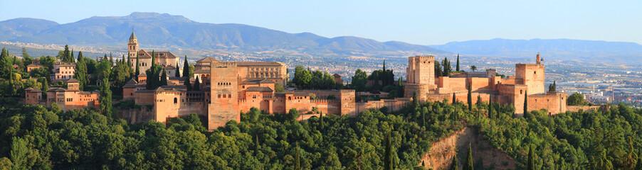 L'Alhambra vu de Albaicín, Grenade, Andalousie