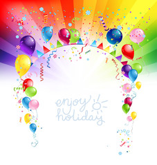 Colorfull holiday design