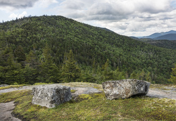 Stone Benches in the Adirondack Mountains