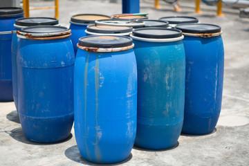 Blue Barrels storage drums