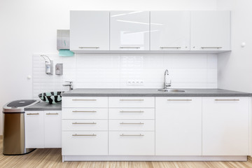 Clinic office with white cabinets