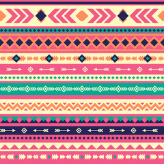 Tribal vector seamless pattern. Aztec abstract geometric art print. Vector background. Wallpaper, cloth design, fabric, paper, cover, textile template