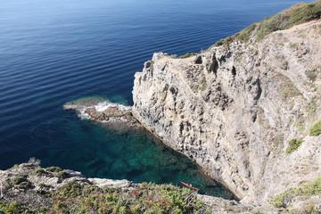 Presqu'île de Giens, falaises