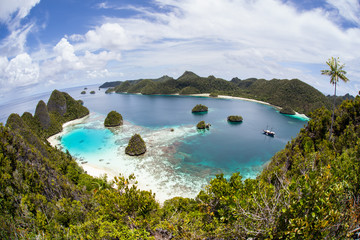 Idyllic Tropical Lagoon in Raja Ampat