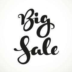 Big sale calligraphic inscription on a white background