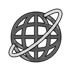 Global internet updating icon vector illustration design doodle