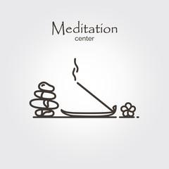 Meditation center - logo template