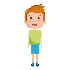 cute boy avatar character vector illustration design