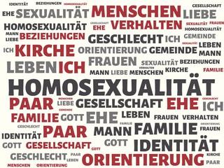 HOMOSEXUALITÄT - Bilder mit Wörtern aus dem Bereich Homosexualität, Wort, Bild, Illustration