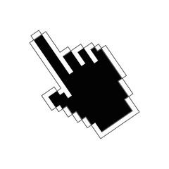 hand cursor icon over white background vector illustration