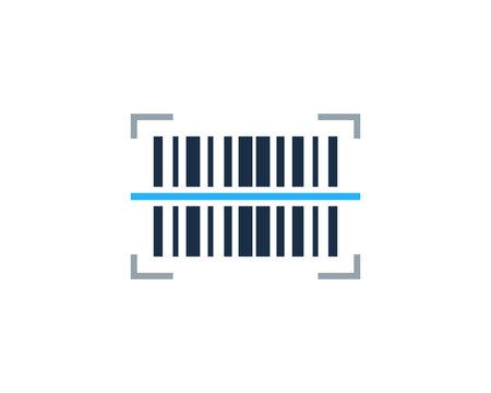 Barcode Icon Logo Design Element