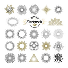 Rays and starburst design elements