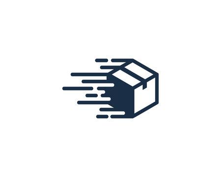 Speed Box Icon Logo Design Element