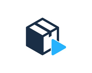 Media Box Icon Logo Design Element