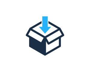 Inside Box Icon Logo Design Element