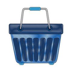 shopping basket icon over white background colorful design vector illustration