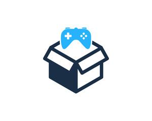 Game Box Icon Logo Design Element