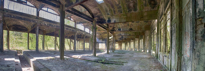 Foto auf Gartenposter Bahnhof The abandoned rotunda of Bénéstroff