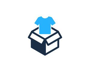 Cloth Box Icon Logo Design Element
