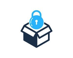Lock Box Icon Logo Design Element