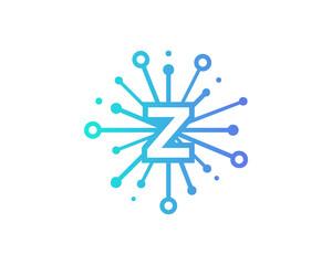 Share Letter Z Icon Logo Design Element